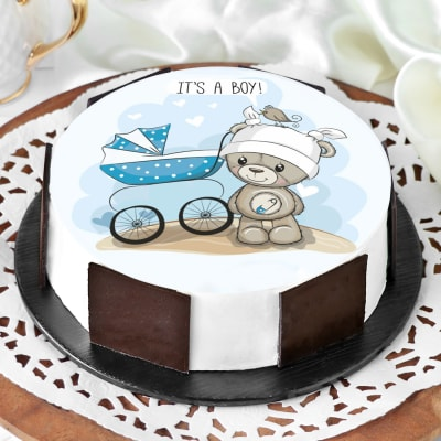 Excellent Order Baby Boy Cake Half Kg Online At Best Price Free Delivery Funny Birthday Cards Online Barepcheapnameinfo