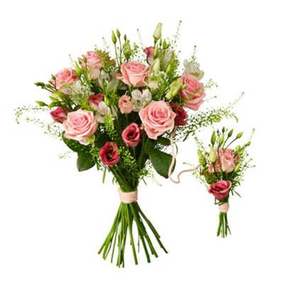 Babybirth bouquet pink