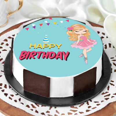 Fine Order Barbie Birthday Cake Half Kg Online At Best Price Free Funny Birthday Cards Online Alyptdamsfinfo