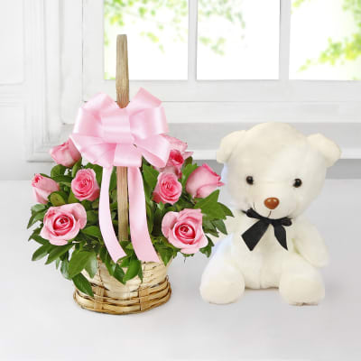 Artificial Decorations Artificial & Dried Flowers Humble Rose Bear Toys Women Girls Flower Birthday Party Wedding Romantic Doll Anniversary Valentines Gifts Decoration For Girl Friend