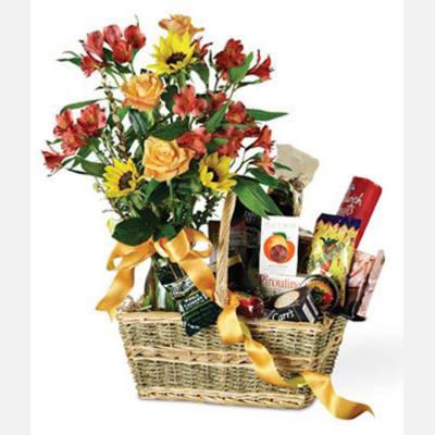 Basket Of Gourmet Greetings