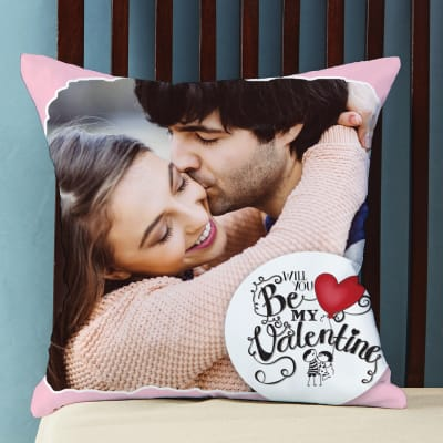 Be Mine Personalized Valentine Cushion