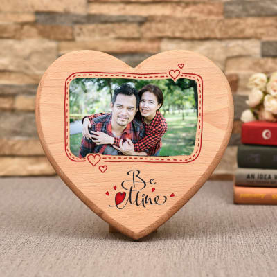 Be Mine Personalized Wooden Photo Frame