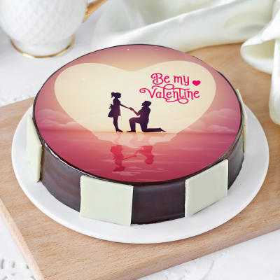 Remarkable Order Be My Valentine Cake Half Kg Online At Best Price Free Funny Birthday Cards Online Elaedamsfinfo
