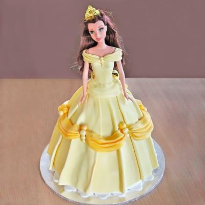 Beautiful Barbie Fondant Cake (2.5 Kg)