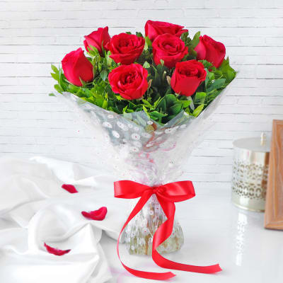 Beautiful Bouquet of 8 Roses