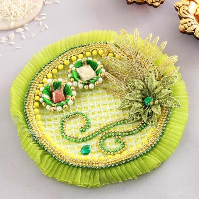 Beautiful Green Tikka Thali