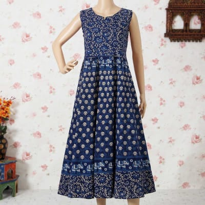 Beautiful Indigo Blue Long Dress