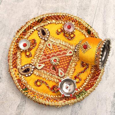 Beautiful Karwa Chauth Puja Thali