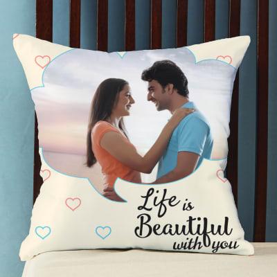 Beautiful Life Personalized Photo Pillow