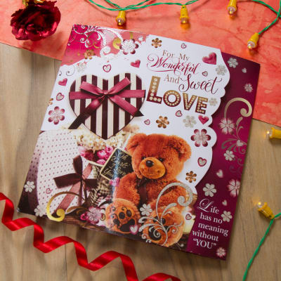 Beautiful love three fold greeting card giftsend greeting cards beautiful love three fold greeting card m4hsunfo