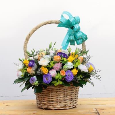 Beautiful mixed colour basket