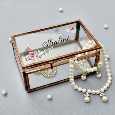 Beautiful Personalized Glass Jewelry Box