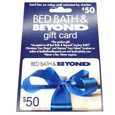 bed bath beyond 50 gift card