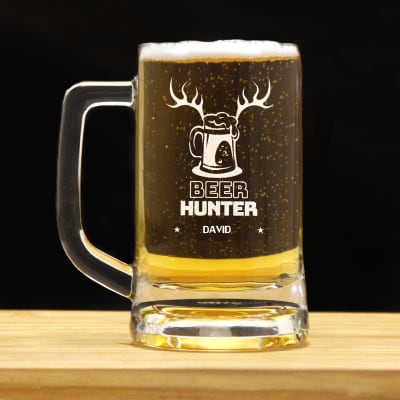 beer hunter personalized beer mug gift send home and living gifts