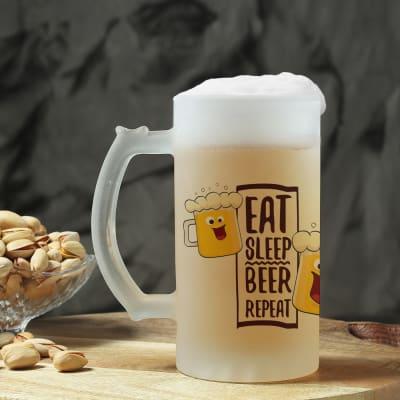 Beer Mug - Eat Sleep Beer Repeat