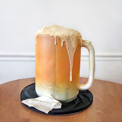 Beer Mug Fondant Cake (3 Kg)