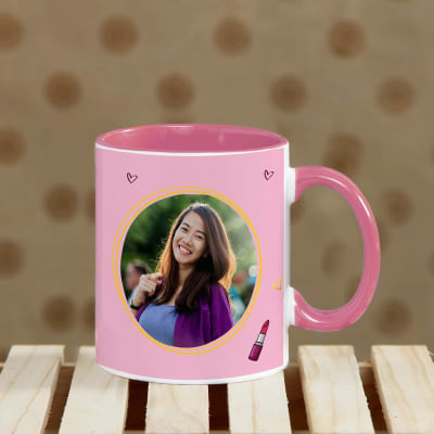 Believe in You Personalized Pink Handle Mug