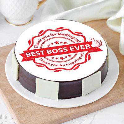 Best Boss Ever Poster Cake (Half Kg)