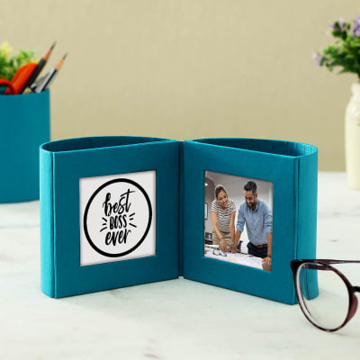 Best Boss Personalized Pen Stand with Photo Frame