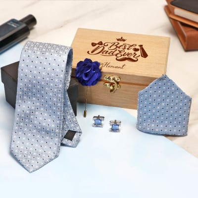 Best Dad Accessory Set in Personalized Box