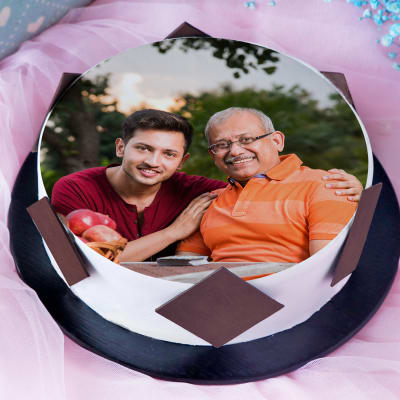 Best Father Ever Delicious Photo Cake (Half Kg)