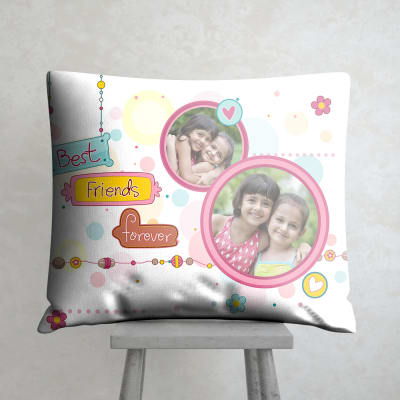 Personalized cushions pillows buy personalized cushions online best friends forever personalized satin pillow negle Choice Image