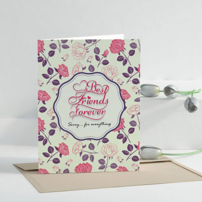 Best friends forever personalized sorry greeting card giftsend best friends forever personalized sorry greeting card m4hsunfo