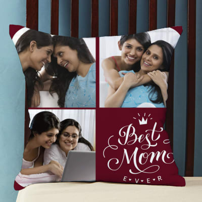 Best Mom Ever Personalized Photo Cushion