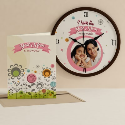 Personalized greeting cards online send personalized gifts to best mom personalized clock and card combo m4hsunfo