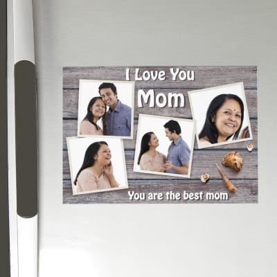 Best Mom Personalized Photo Magnet