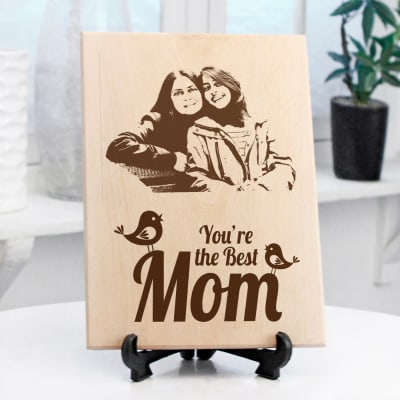 Best Mom Personalized Wooden Photo Frame
