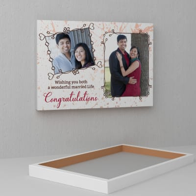 best personalized congratulatory wishes on a3 canvas gift send home