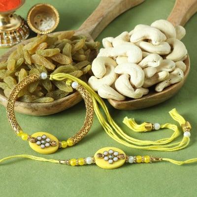 Bhaiya Bhabhi Rakhi with Dry Fruits