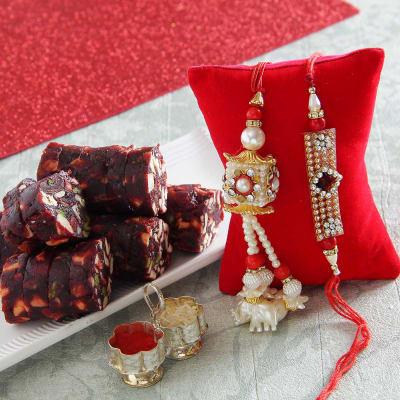 Bhaiya bhabhi rakhi with khajur sugar free sweet roli chawal bhaiya bhabhi rakhi with khajur sugar free sweet roli chawal container negle Gallery