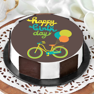 Tremendous Order Bicycle Birthday Cake Half Kg Online At Best Price Free Funny Birthday Cards Online Overcheapnameinfo