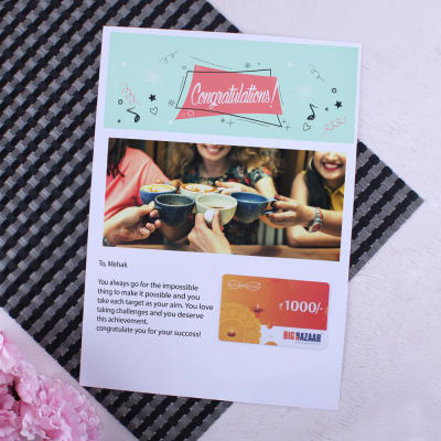 Personalized wedding gifts online send personalized gifts to india big bazaar gift card with personalized best wishes letter 1000 negle Choice Image