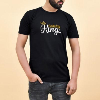 Birthday King Black Men's T-Shirt