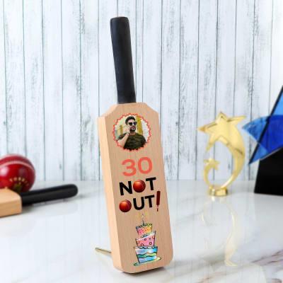 Birthday Personalized Cricket Bat Photo Stand