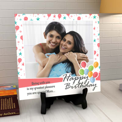 Birthday Personalized Tile For Mom