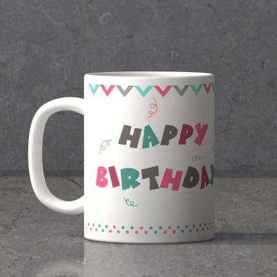 Birthday Personalized White Mug