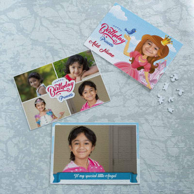 Birthday Princess Personalized A4 Sized Puzzle Set Of 3