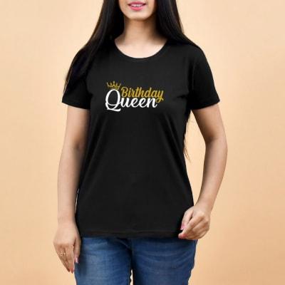 Birthday Queen Black Women's T-Shirt