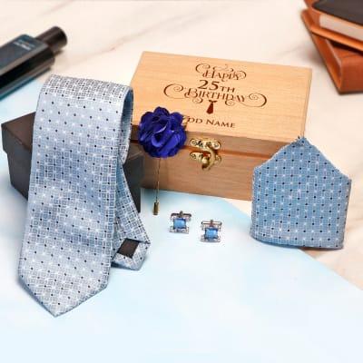 Birthday Special Neck Tie Set Personalized Box