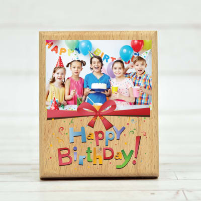 Birthday Special Personalized Wooden Photo Frame