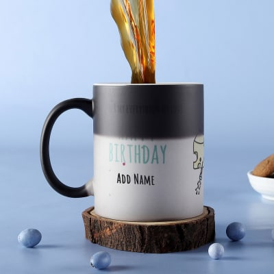 Birthday Sprinkles Personalized Magic Mug