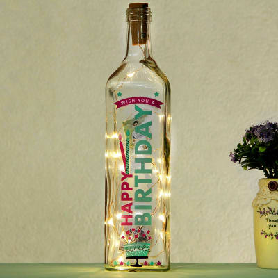 Birthday Theme Personalized LED Bottle