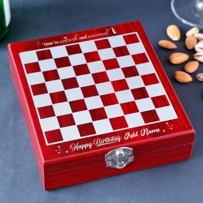 Birthday Theme Wine Kit and Chess Board