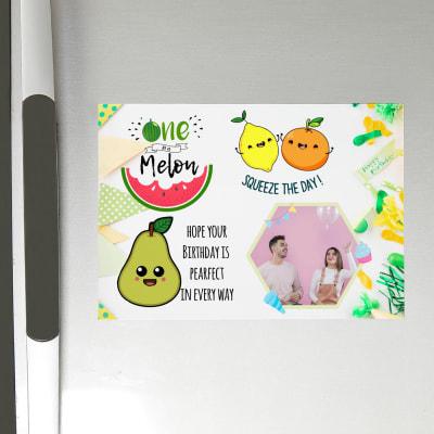 Birthday Themed Personalized Fridge Magnet