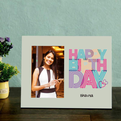 Birthday Themed Personalized Photo Frame